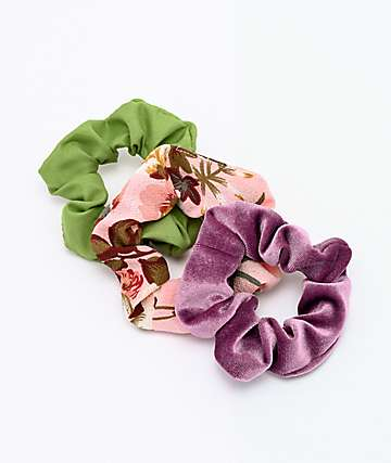 Stone + Locket Floral 3 Pack Scrunchies