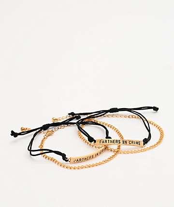 Stone + Locket Partners In Crime Friend Bracelet