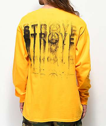 Straye Stamped 2.0 Gold Long Sleeve T-Shirt