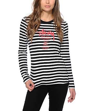 Stussy World Tour Stripe Long Sleeve T-Shirt