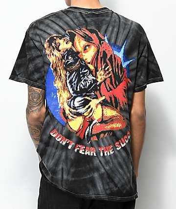 Succ 8 Bit Don't Fear camiseta negra con efecto tie dye