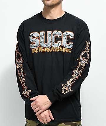 Succ Barbed Wire camiseta negra de manga larga