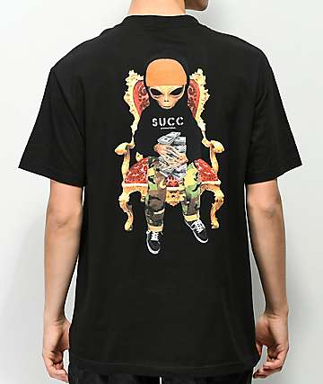 Succ Lil Mayo Throne Black T-Shirt
