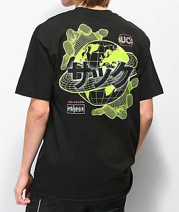 Succ Mesh Globe Black T-Shirt