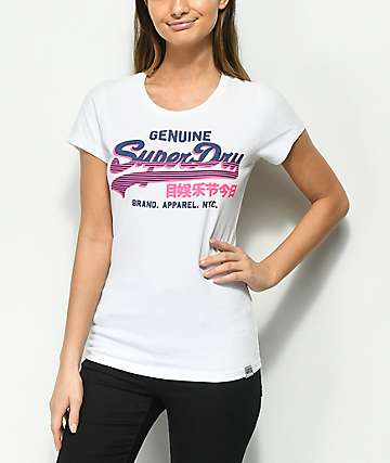 Superdry Vintage Logo Genuine Entry White T-Shirt