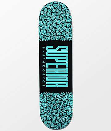 "Superior Gem Wrap Logo 8.0""  Skateboard Deck"