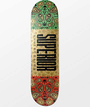 "Superior Gold Bandana 8.25""  Skateboard Deck"