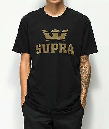 Supra Above camiseta negra y oliva