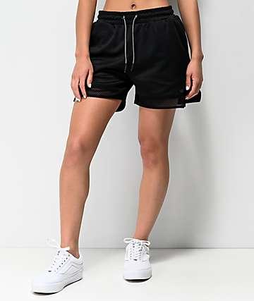 Supra All City Black Elastic Waist Shorts