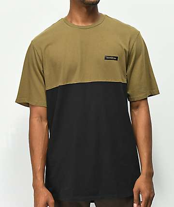 Supra Block Green & Black Knit T-Shirt