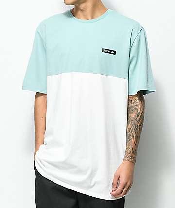 Supra Block camiseta en blanco y color aguamarina