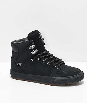 Supra Boys Vaider CW Black & Plaid Shoes