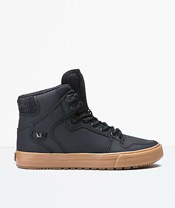 Supra Boys Vaider Cold Weather Black & Gum Shoes