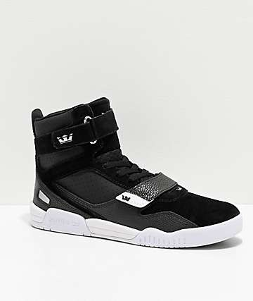 Supra Breaker Black & White Skate Shoes