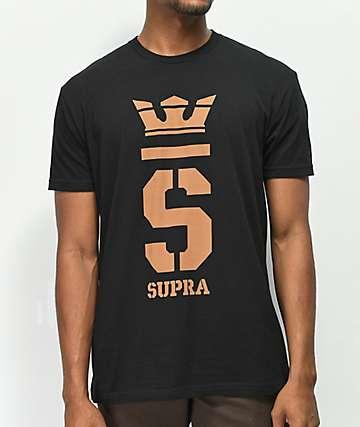 Supra Champ Black & Khaki T-Shirt