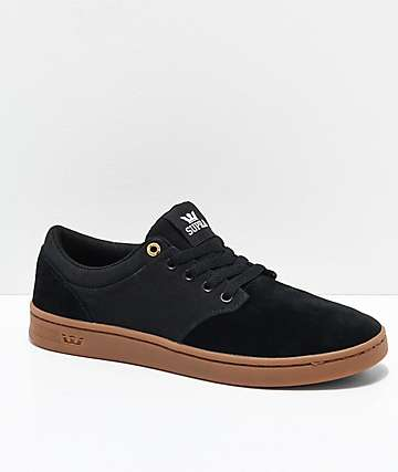 Supra Chino Court Black & Gum Skate Shoes