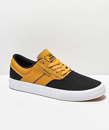 Supra Cobalt zapatos de skate en negro, dorado y blanco