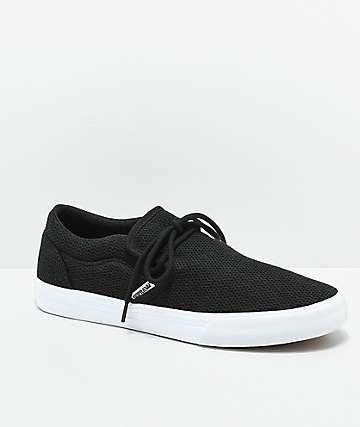 Supra Cuba zapatos de skate de punto negro y blanco