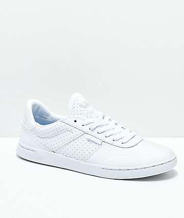 Supra Elevate Nubuck zapatos skate de cuero blanco