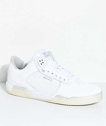 Supra Ellington zapatos de skate perforados en blanco y gris claro