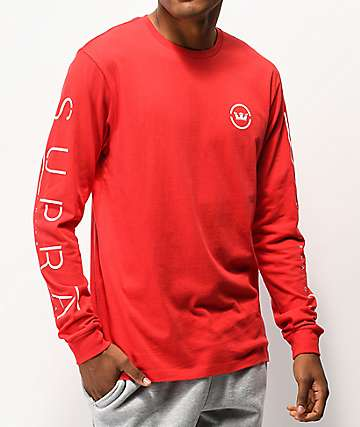 Supra Established 2006 Red Long Sleeve T-Shirt