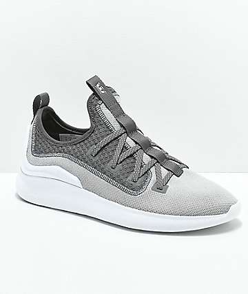 Supra Factor Light Grey & White Shoes
