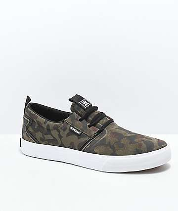 Supra Flow Camo & White Skate Shoes