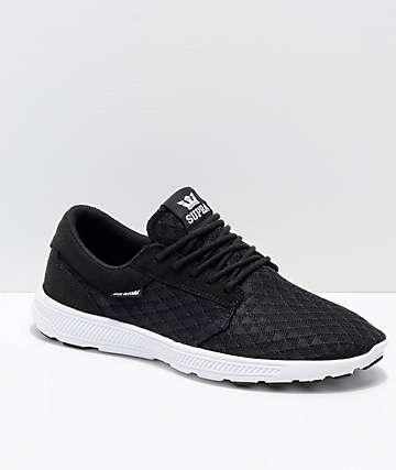 Supra Hammer Run Black & White Triangle Mesh Shoes