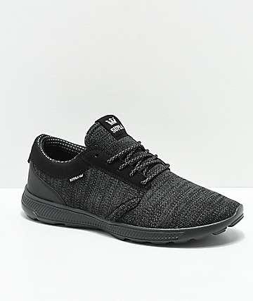 Supra Hammer Run Charcoal & Black Knit Shoes