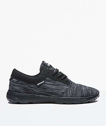 Supra Hammer Run Grey & Black Shoes
