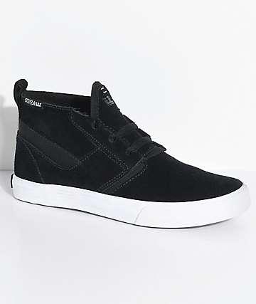 Supra Kensington zapatos de skate de ante en blanco y negro