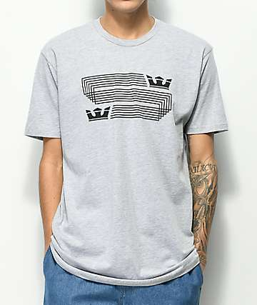 Supra Linked Crown camiseta en gris jaspeado