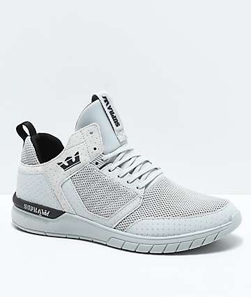 Supra Method Grey, Black, Knit & Nubuck Shoes