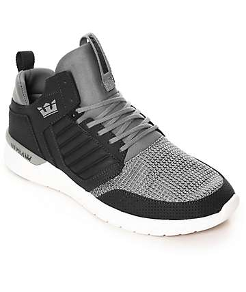 Supra Method Light & Dark Grey Perforated Nubuck Shoes