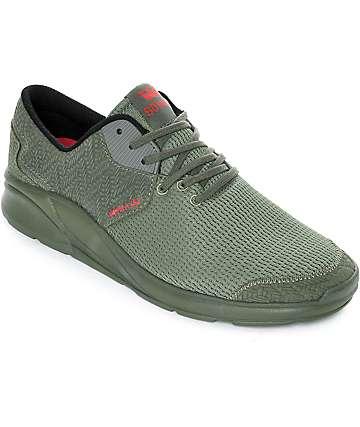 Supra Noiz Mono Olive Suede & Mesh Shoes