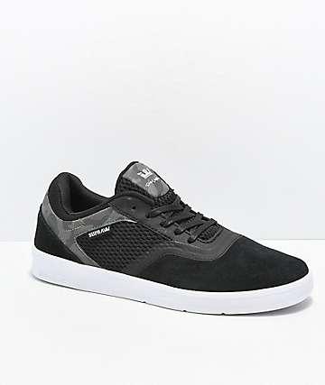 Supra Saint zapatos de skate de camuflaje negro y blanco