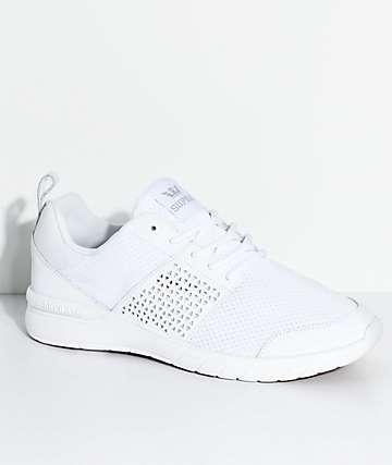 Supra Scissor White & Gum Knit Shoes