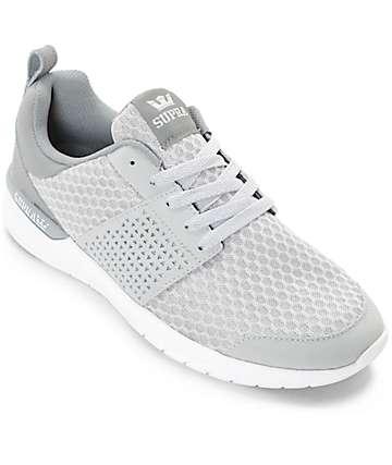 Supra Scissor zapatos de malla y nubuck en gris