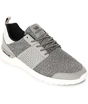 Supra Scissor zapatos de nubuck en gris y blanco
