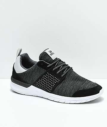 Supra Scissor zapatos en gris oscuro, blanco y negro