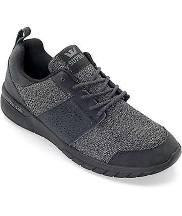 Supra Scissor zapatos en negro y color carbón