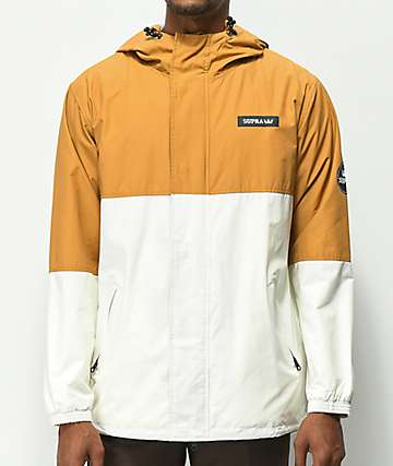 Supra Shifting chaqueta marrón y blanquecina