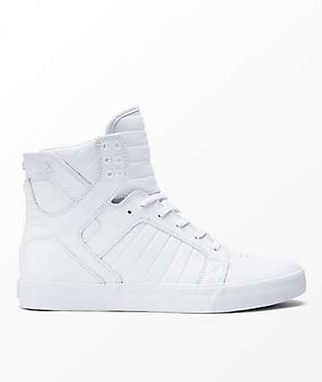 Supra Skytop All White Shoes