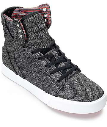 Supra Skytop Microchip Grey Boys Skate Shoes