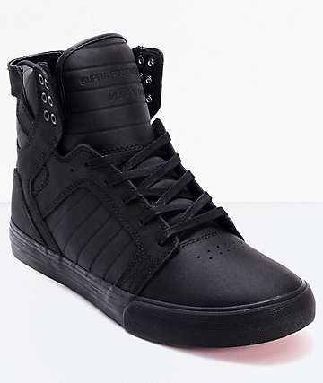 premium selection b8959 bdc26 Supra Skytop Red Carpet Edition Black Skate Shoes