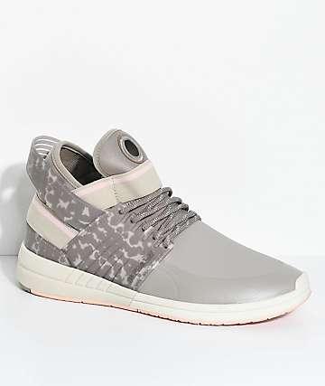 Supra Skytop V Khaki, Grey & Pink Skate Shoes