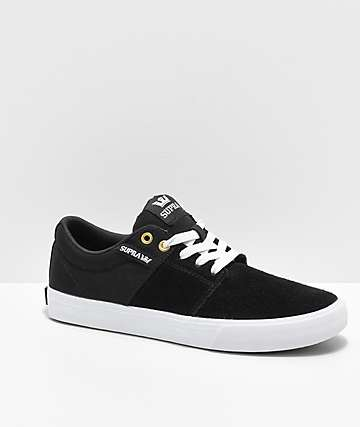 Supra Stacks II Vulc Black & White Skate Shoes
