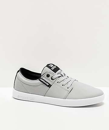 Supra Stacks II Vulc Grey & TUF-White Skate Shoes