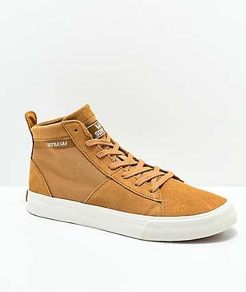 Supra Stacks Mid Tan & Bone Skate Shoes