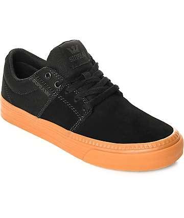 Supra Stacks Vulc II HF zapatos de skate de ante en negro y goma